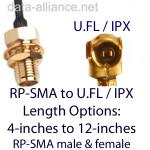Cables U.FL a RP-SMA