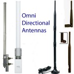 Omni-directional antennas should only be used when the direction of the signal path is multi-point or unclear or changing (such as on a boat)