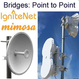 Wireless bridges for point-to-point or point-to-multipoint links