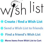 Create or find a wish list