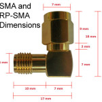 RP-SMA & SMA dimensions