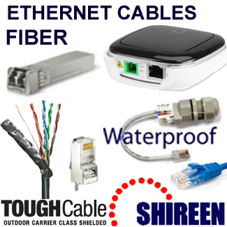 Ethernet cables and fiber products