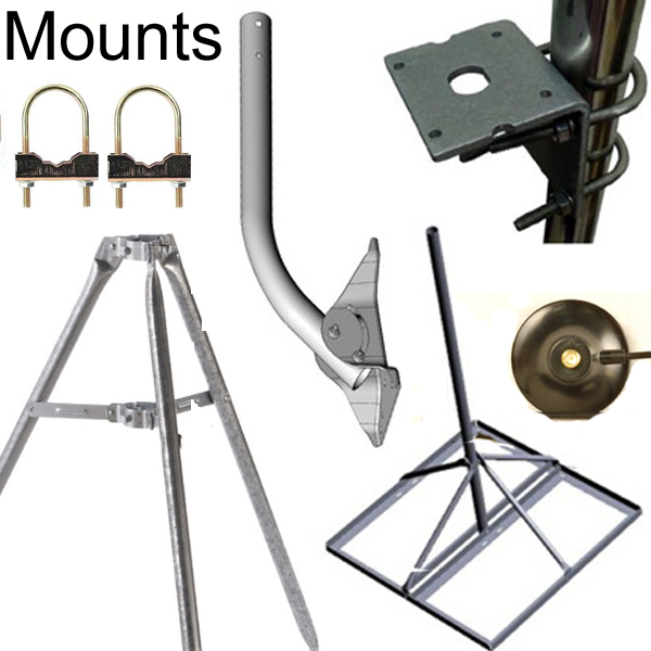Antenna Mounts:  Mount antenna high for better signal
