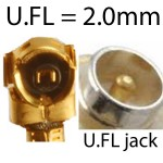 U.FL is very similar to H.FL but is 0.4mm smaller. Many miniPCI cards by Ubquiti and MikroTik have a U.FL jack. I-PEX is exactly the same as U.FL.