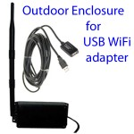 Enclosure for USB WiFi adapter with antenna & cable