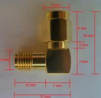RP-SMA & SMA Connectors & Adapters: Measurements & dimensions