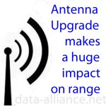 Best Wireless Tip: Antenna upgrade will result in big increase in range: Small increase in dBm will multiply the power & signal-range of a WiFi Access Point or USB WiFI adapter. See table of multiples of increase in power that result from incremental increases in dB.
