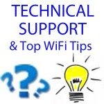 Dozens of tech support pages neatly organized in categories. Technical support for all WiFi Equipment that we sell