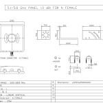 A5G13P; Antenna 5GHz 13dbi panel w/ N-female: Hardware, dimensions & diagram